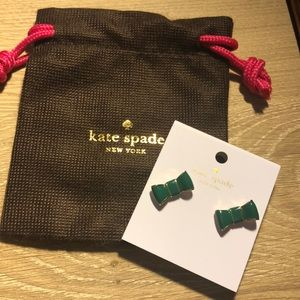 Kate Spade Bow Earrings with jewelry bag